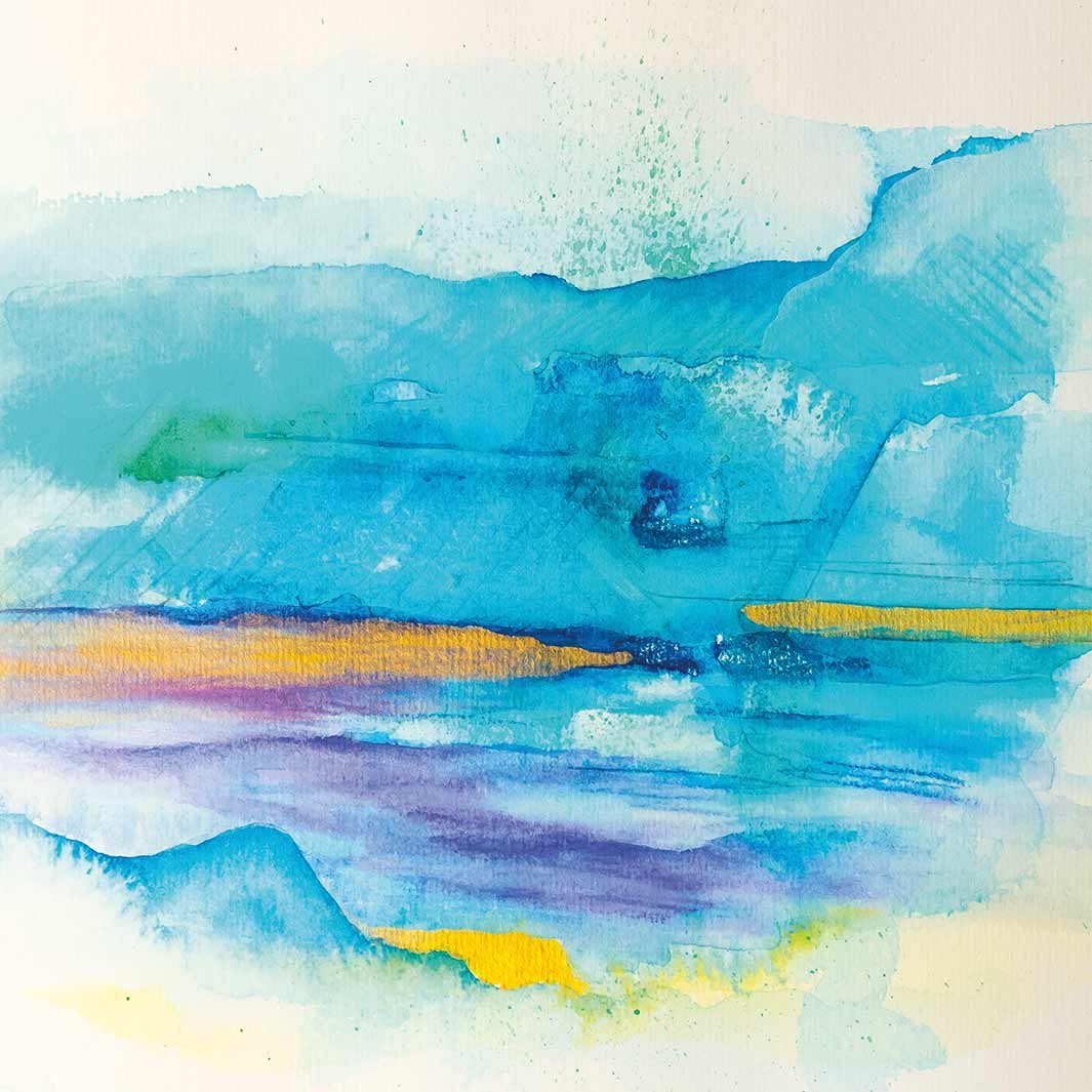 Aquarell Wasserimpression