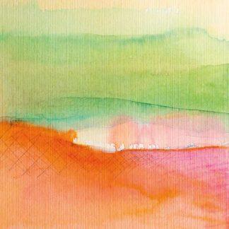 Aquarell Bäume im Sonnenuntergang von Stefanie Menzel