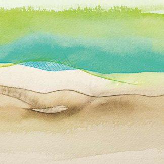 Aquarell Fischernetz von Stefanie Menzel